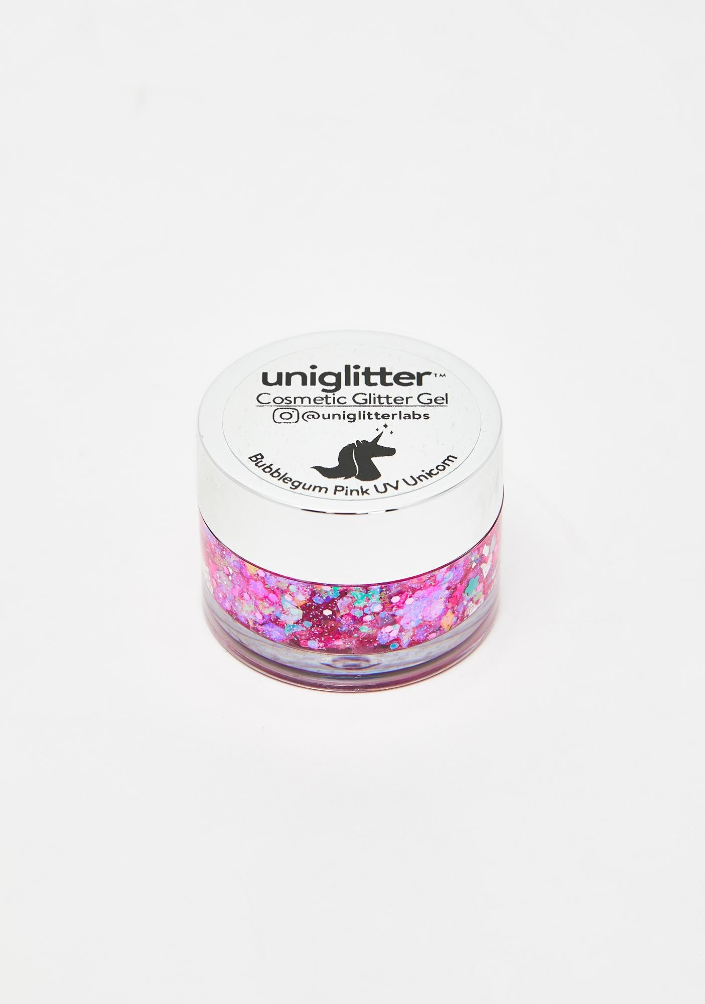 Uniglitter Bubblegum Pink UV Unicorn Glitter Gel
