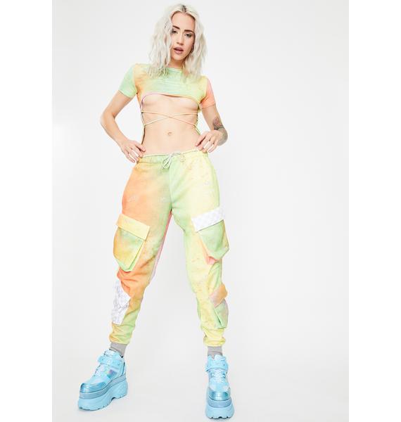 W.I.A Palette Tie Dye Cargo Pants