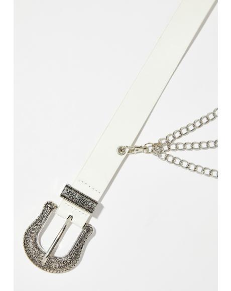 Pure Money Bags Double Buckle Belt