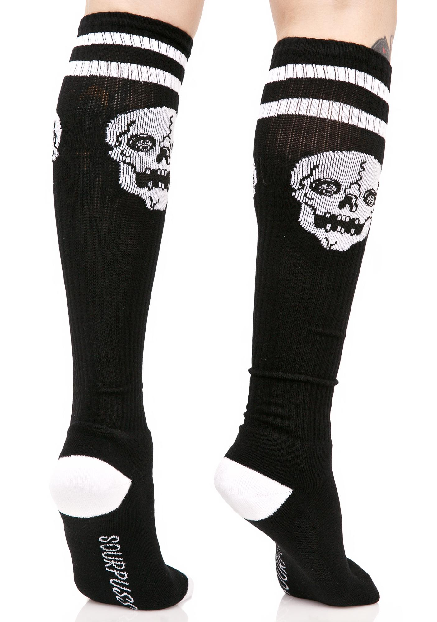 Sourpuss Clothing Skelly Knee High Socks