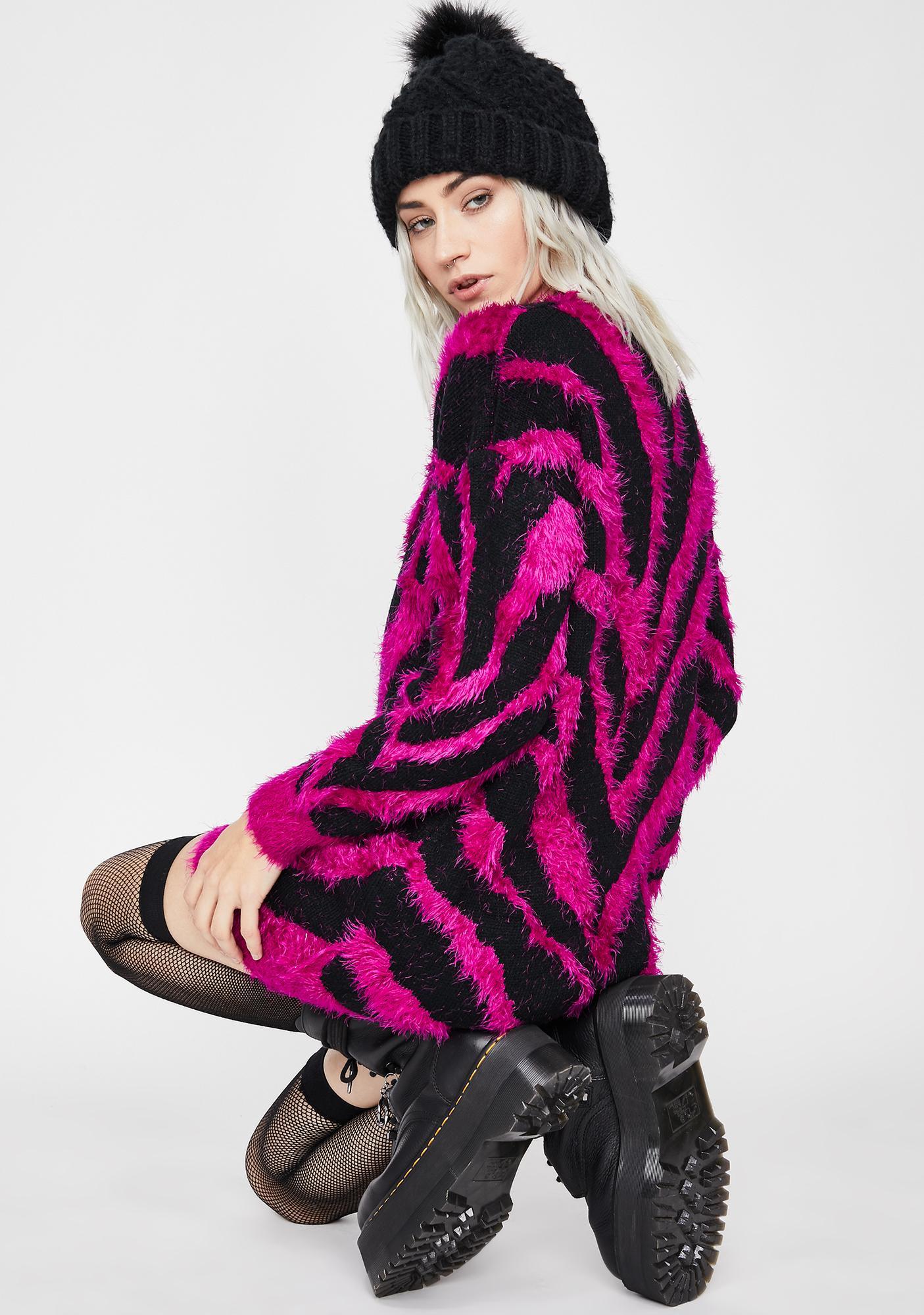 Sweet But Wild Sweater Dress