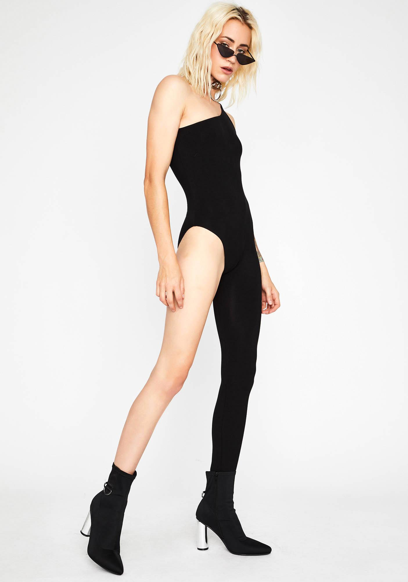 Shadow Sleuth Asymmetrical Jumpsuit