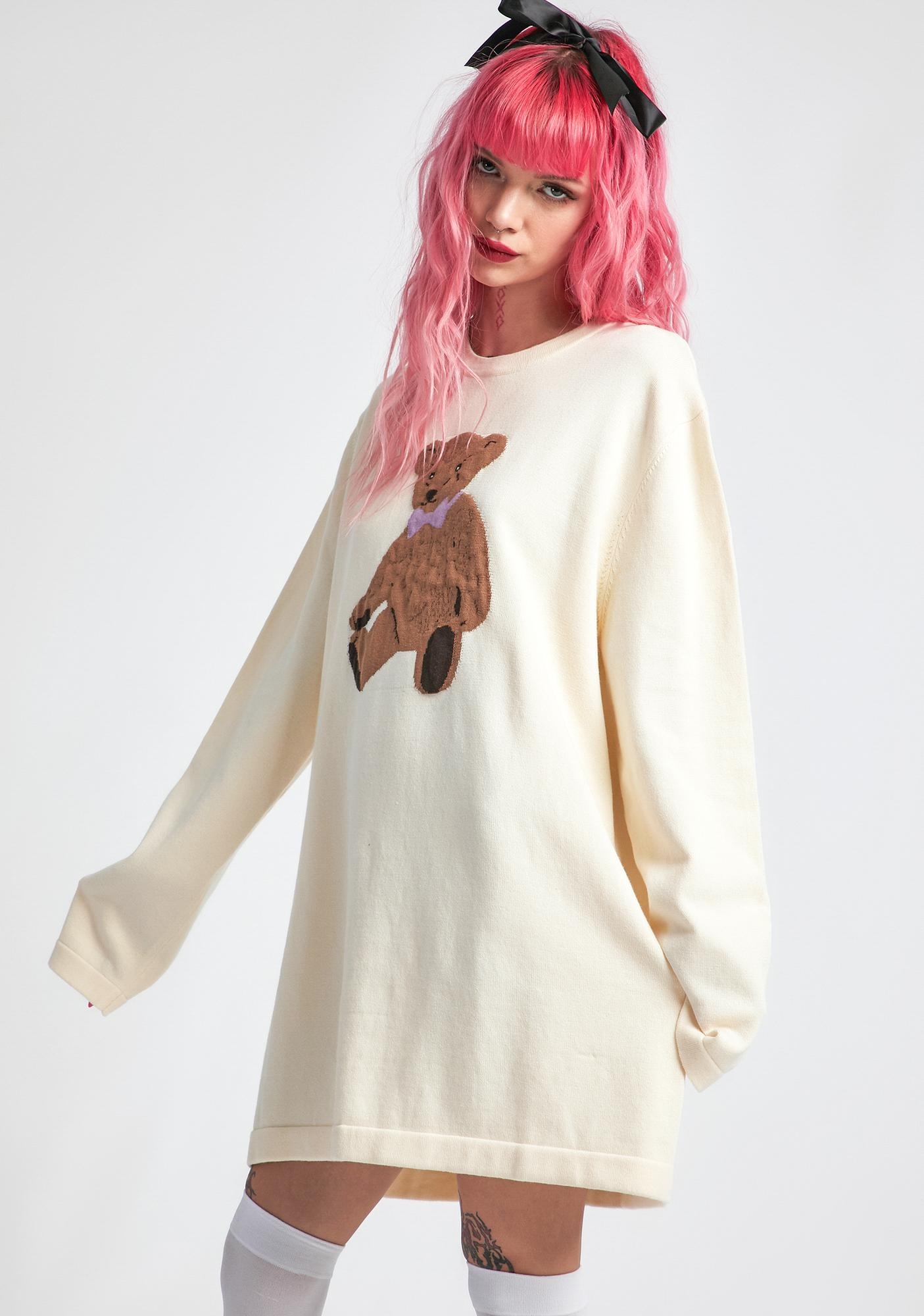 dELiA*s by Dolls Kill On Cloud Fine Oversized Intarsia Sweater