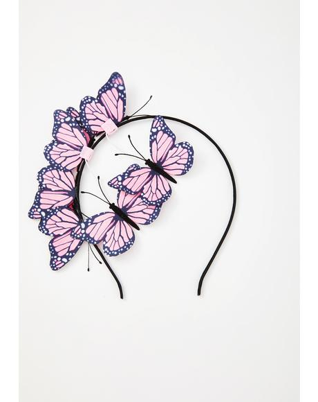 Pixie Fly Too High Butterfly Headband