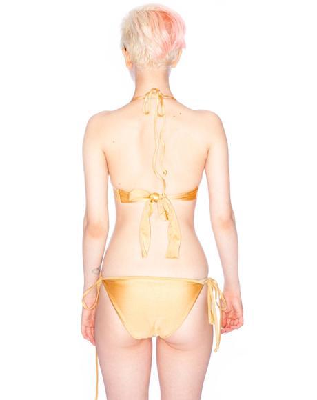 Golden Road Suede Bikini