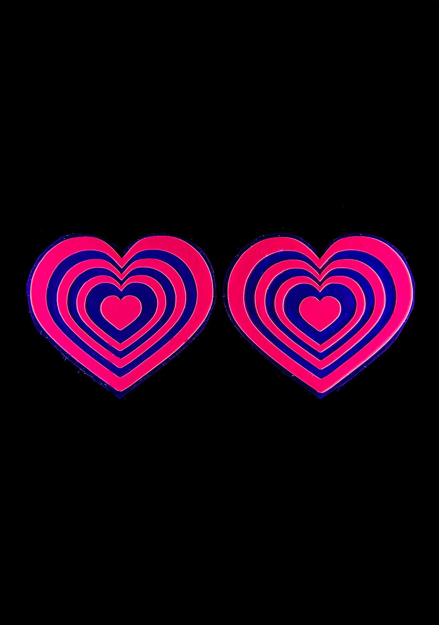 Sasswear Reflective Heart Pasties