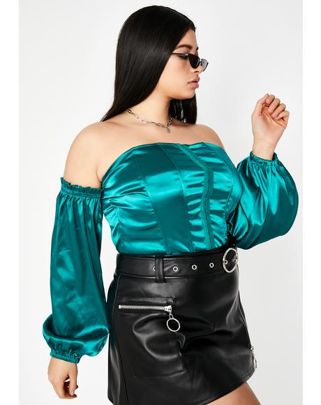 Cash She's Above Average Satin Corset
