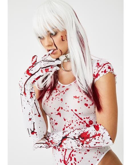 Deranged Dissection Blood Splatter Gloves