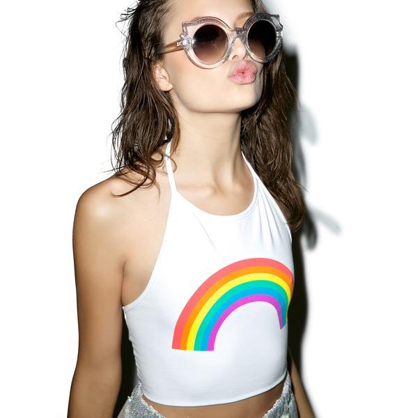 MeYouVersusLife Rainbow Tie Back Halter