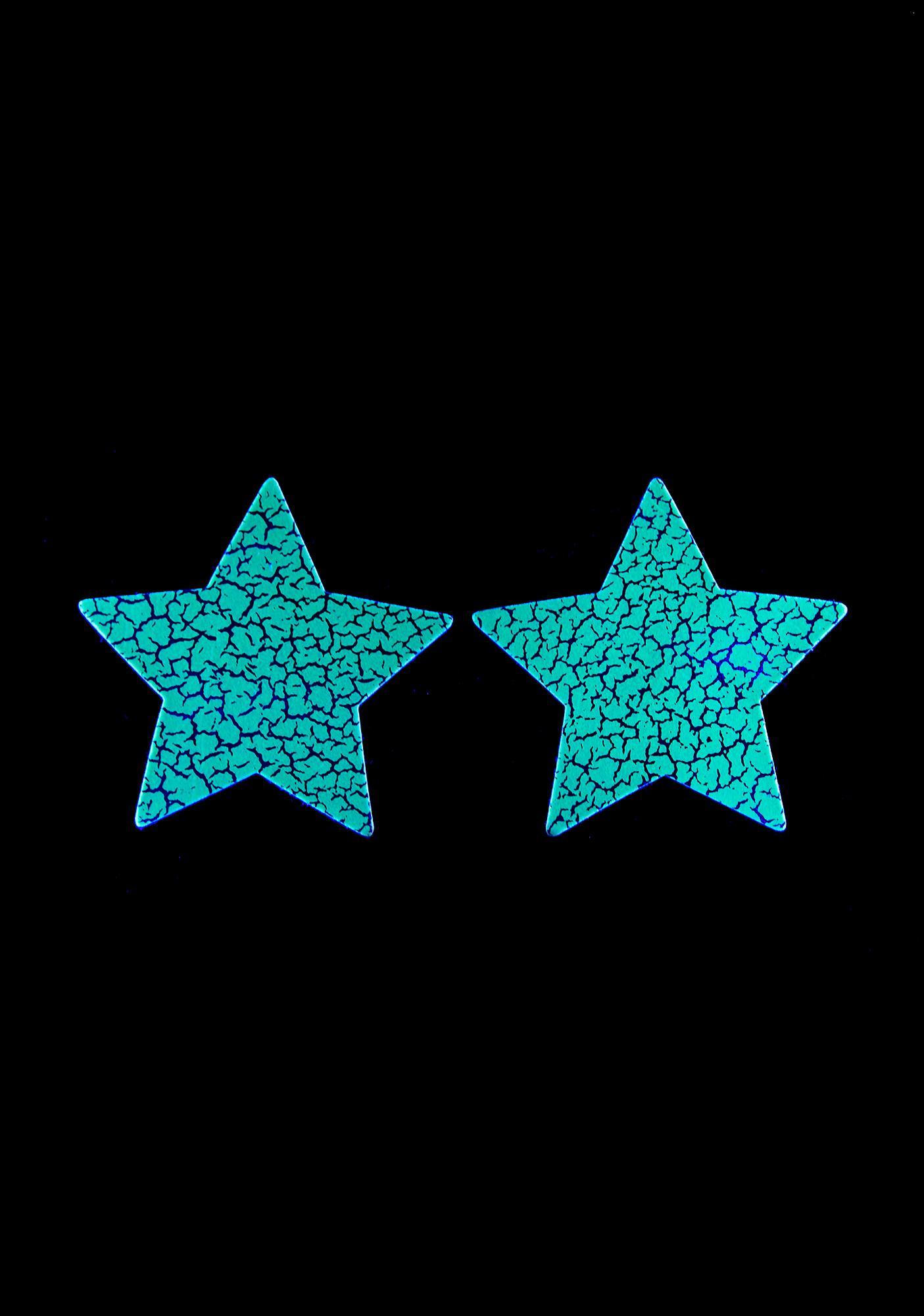 Neva Nude Glow In The Dark Star Pasties