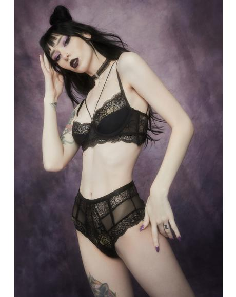 Meaning Of Night Strappy Lace Lingerie Set