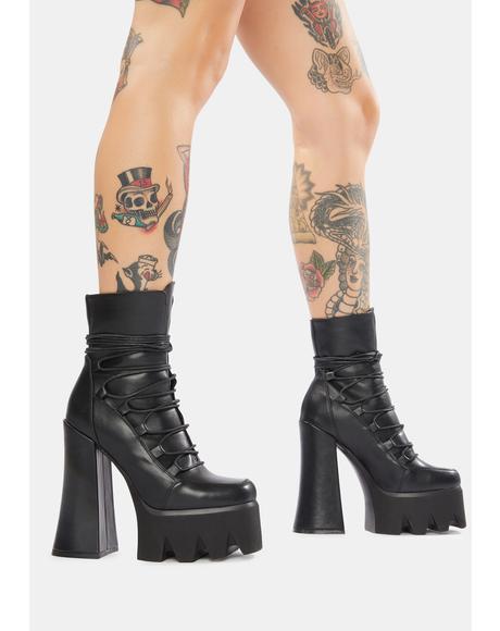 Back To U Lace Up Platform Boots