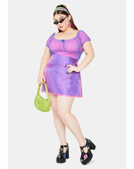 Lil Mega Cutie Organza Overlay Mini Skirt