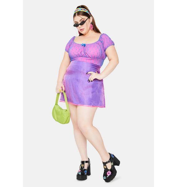 dELiA*s by Dolls Kill Lil Mega Cutie Organza Overlay Mini Skirt