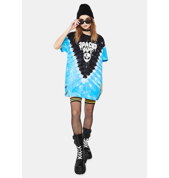 Current Mood Outta This World Tie Dye Graphic Tee