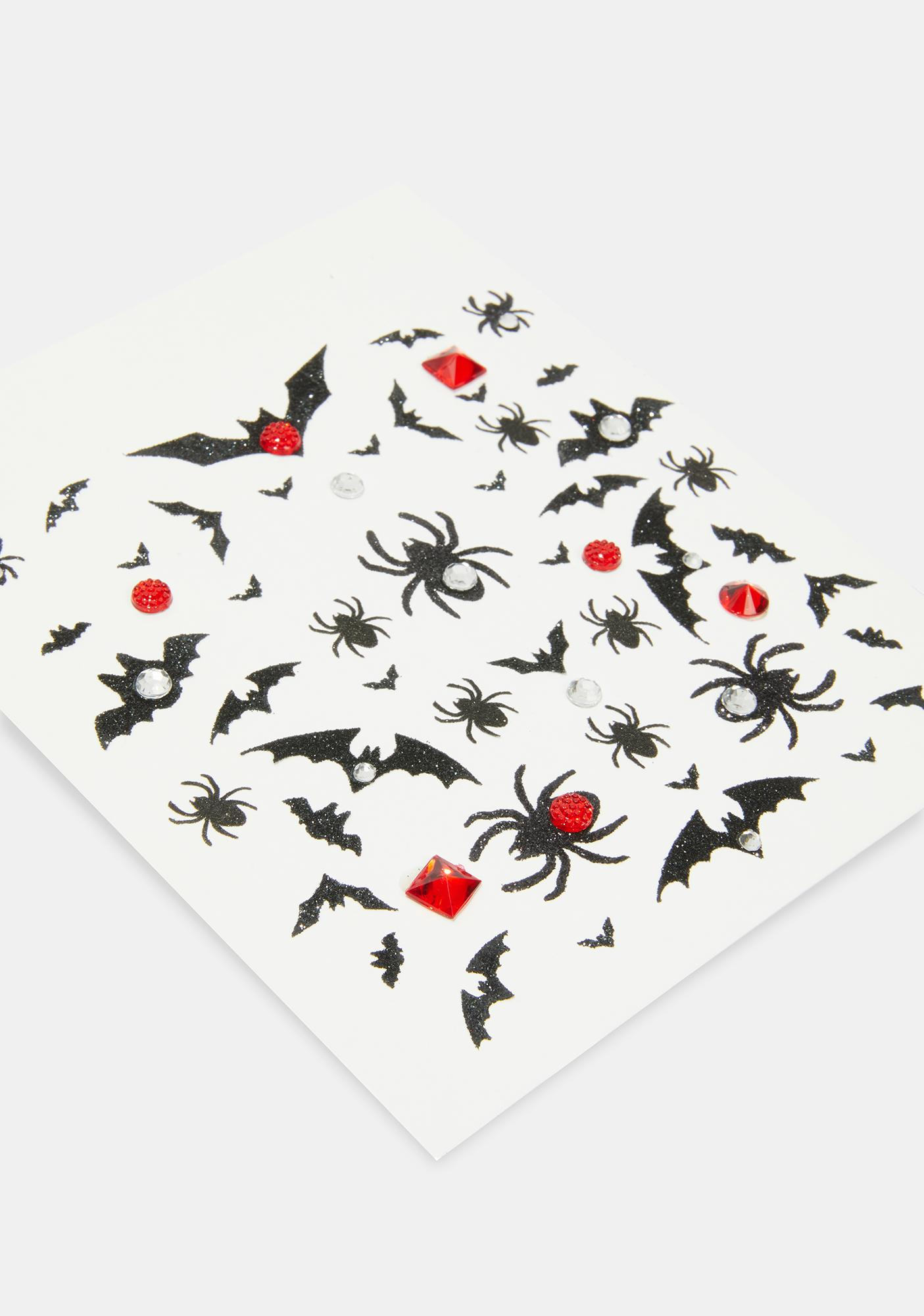 Creepy Crawlin' Spider Body Stickers