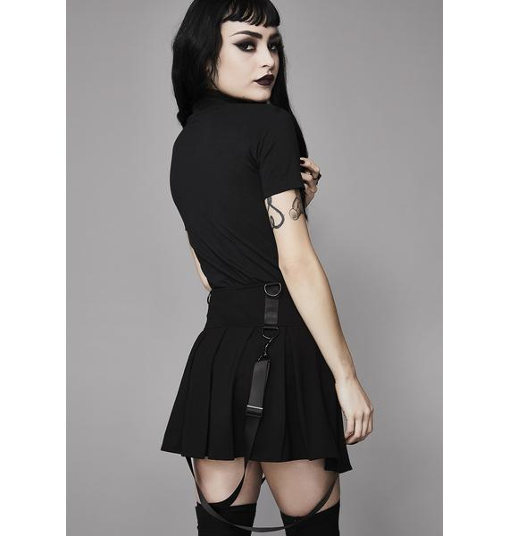 Widow Menacing Magic Pleated Skirt