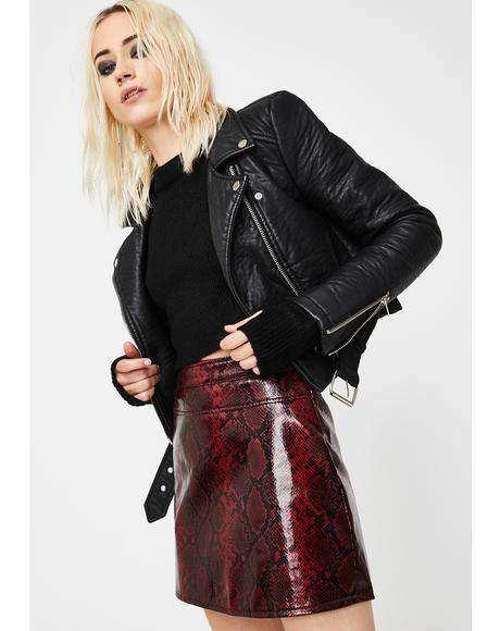 Venomous Vices Snakeskin Skirt