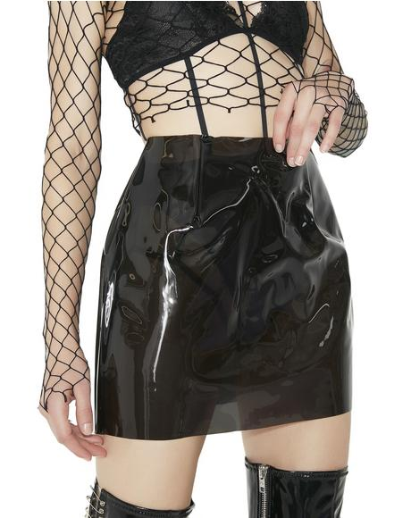 Risk It All Vinyl Skirt