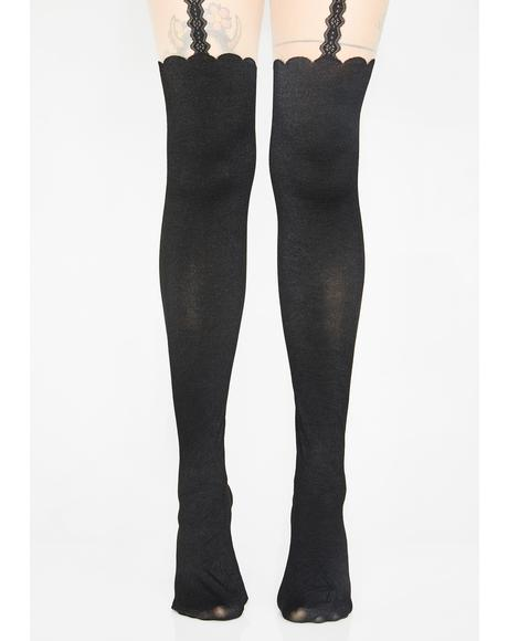 Cute N' Charming Suspender Tights