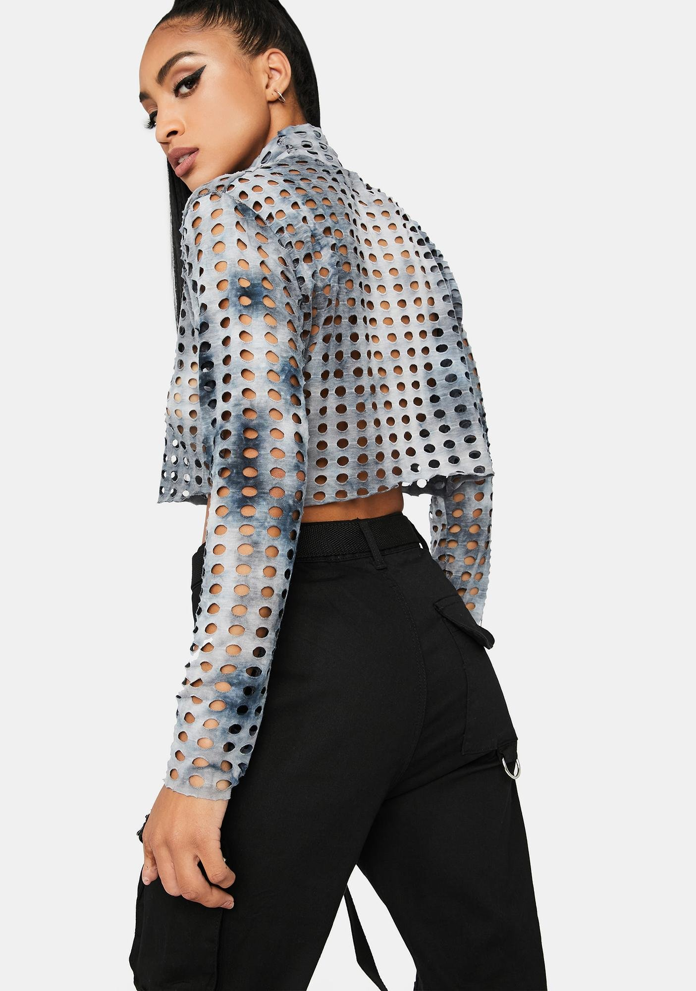 Made To Order Perforated Crop Top