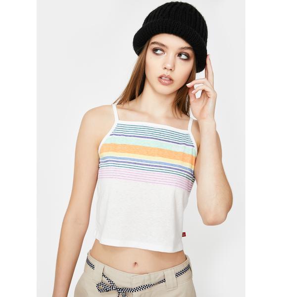 Dickies Girl Striped Crop Cami Tank
