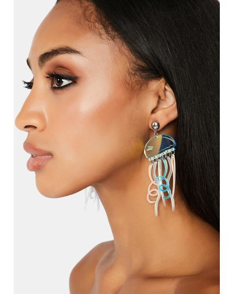 Sea Stingers Holographic Earrings
