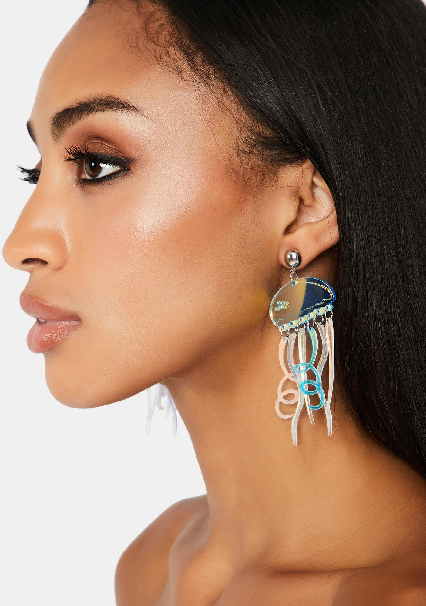 Sea Stingers Holographic Earrings
