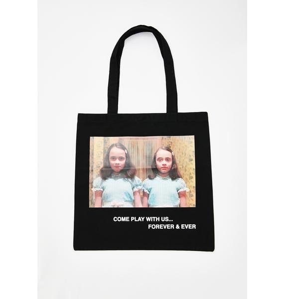 Come Play With Us Canvas Tote