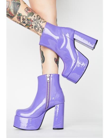 Grape Groovy Delight Platform Boots