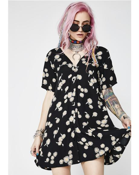 Grunge Daisy Crosena Dress