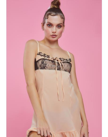 Routinely Perfect Chiffon Babydoll Dress