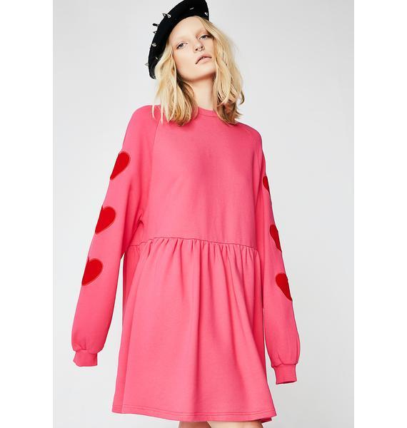 Lazy Oaf Velvet Heart Sweater Dress