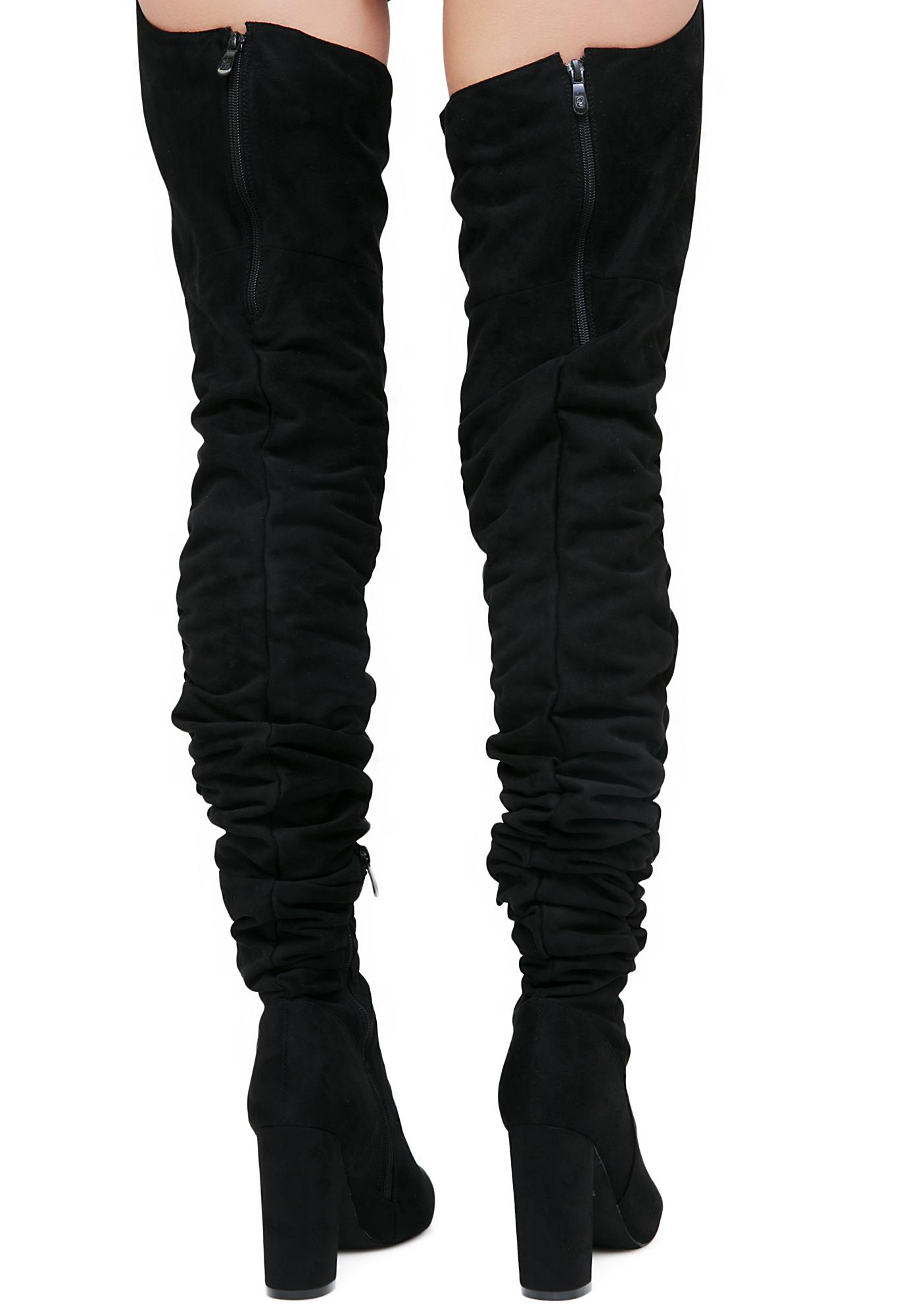 Public Desire Dolly Belted Thigh High Boots
