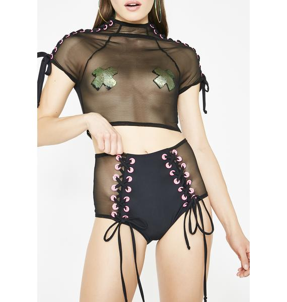 J Valentine Chain Reaction Lace-Up Shorts