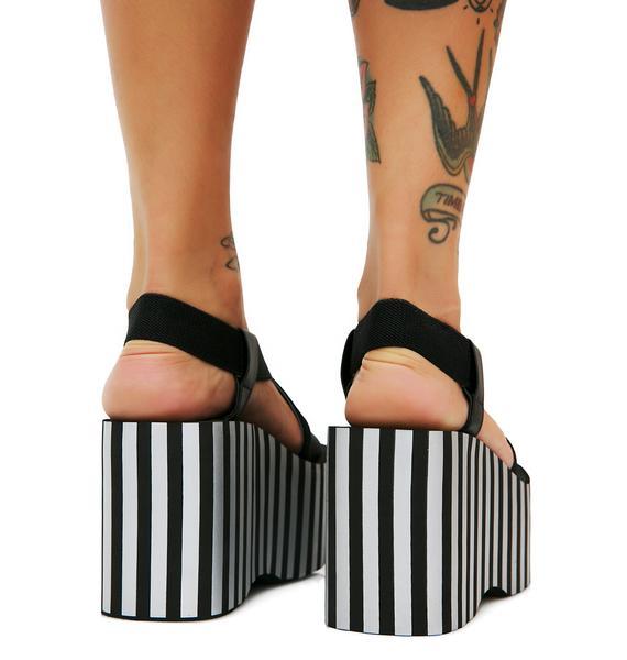 Rocket Dog Stripe Bayer Platform Sandals