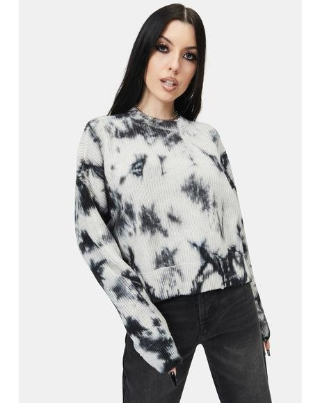 Eva Tie Dye Crop Sweater
