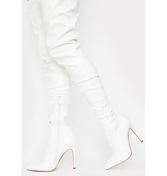 AZALEA WANG Westloop White Chap Boots