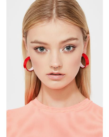 Cherry Candy Couture Hoop Earrings
