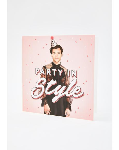 Harry Party In Style Birthday Card