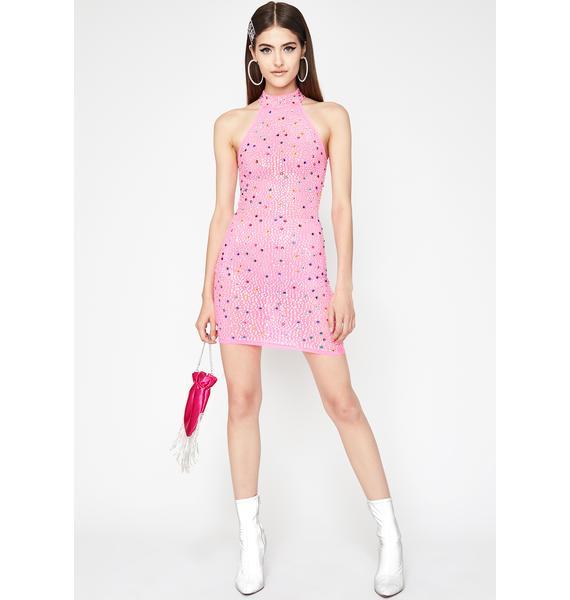 Glitz N' Glamour Halter Dress