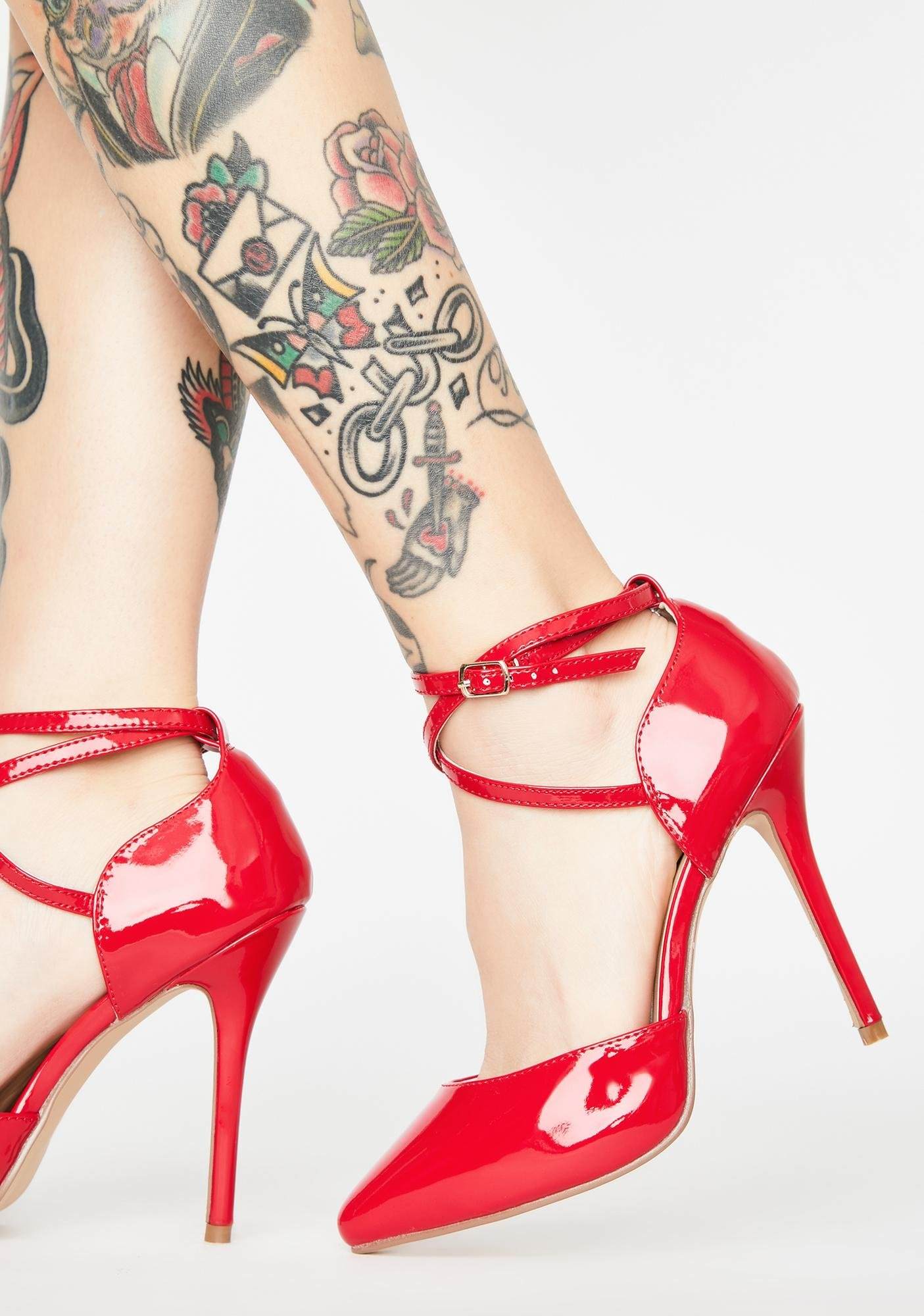 Pleaser Badd Business Patent Heels