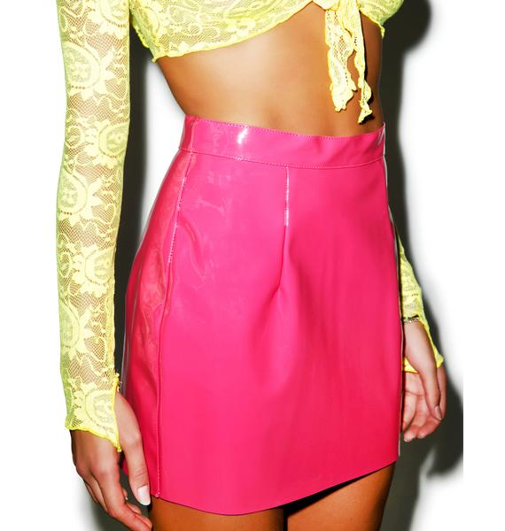 American Apparel Vixen Vinyl Mini Skirt