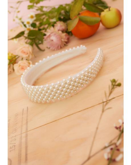 Ivory Chaotic Cotillion Pearl Headband