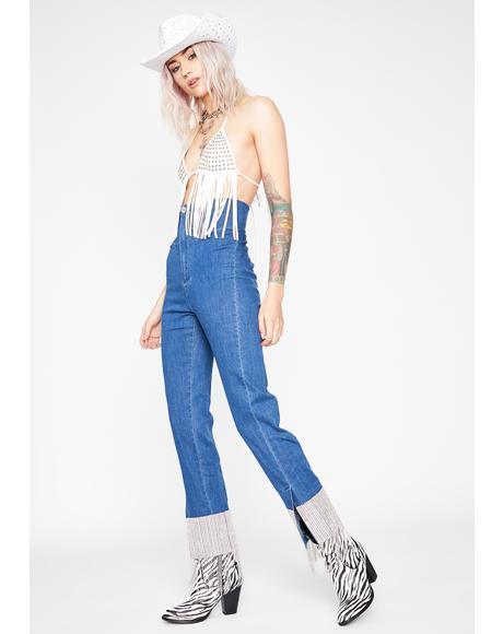 Glamour Moment Fringe Jeans