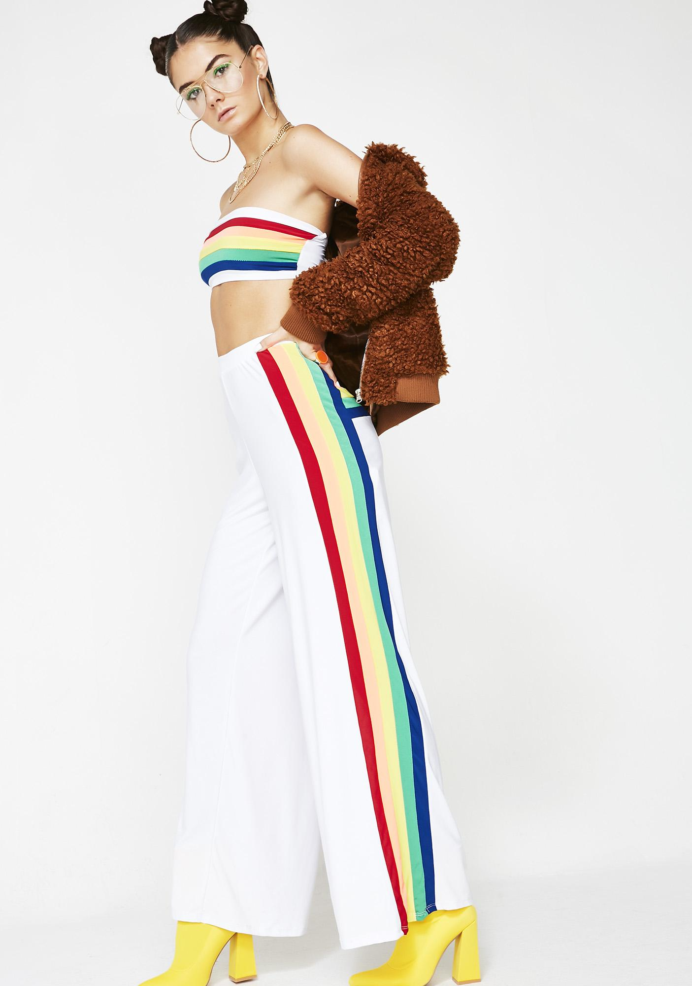 Trippy Rainbow Pant Set by Fashion Queen Mania
