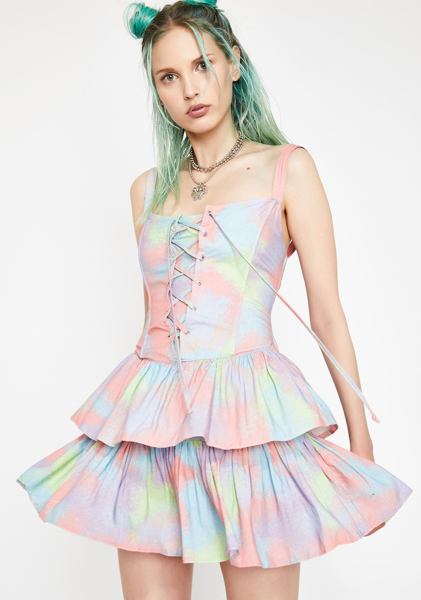 HOROSCOPEZ Moody Mystic Tie Dye Dress