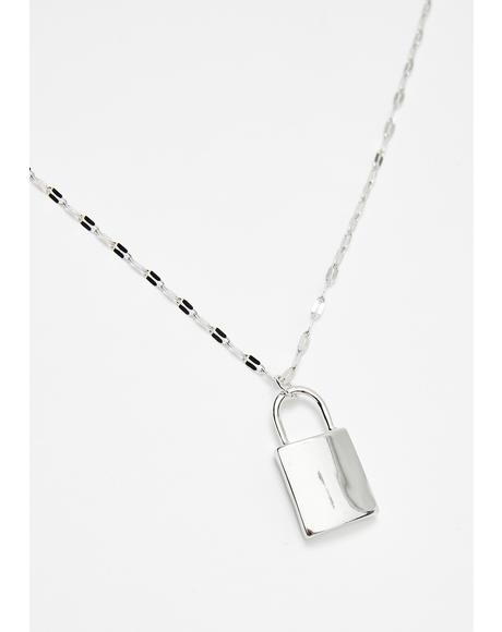 Metal Steal Ur Heart Lock Necklace