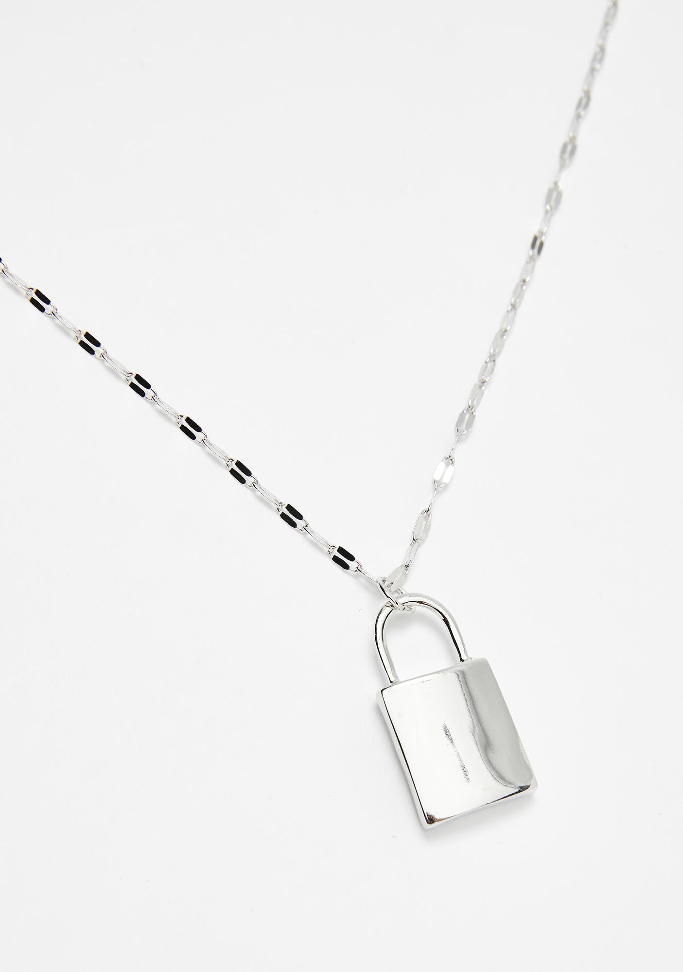 Metal Steal Ur Heart Lock Necklace