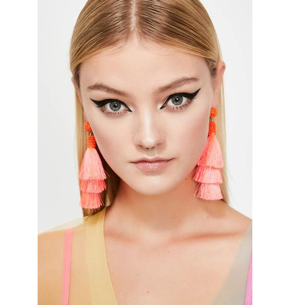 Sweet Fringe Delight Tassel Earrings